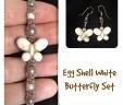 Egg Shell White Butterfly Set