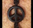 Black Peace Mens Bracelet