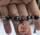 Custom Stamped Penny Beaded Arm Candy